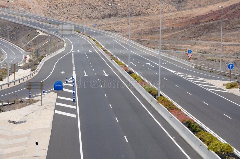 四个高速公路运输路线 库存照片
