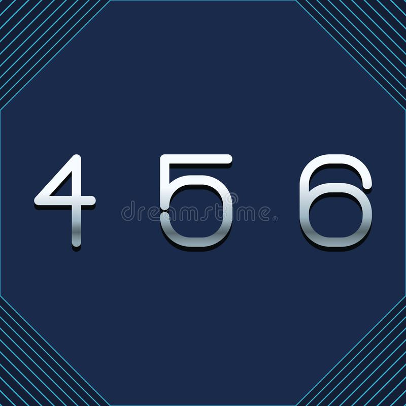 四五六 向量例证