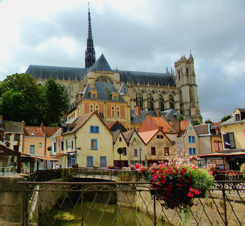 四分之一圣徒列伊在亚眠法国 库存照片