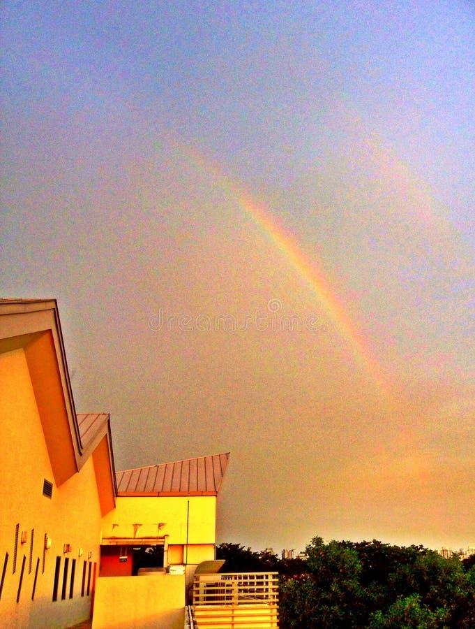四分之一彩虹在新加坡 免版税图库摄影