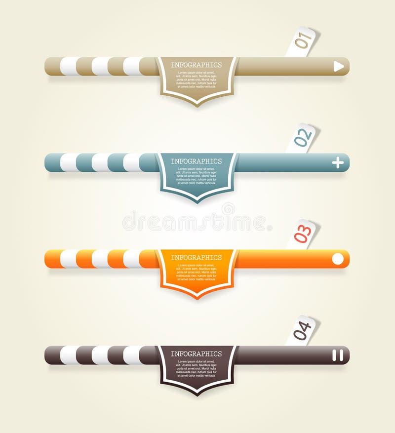 四副色的网横幅 皇族释放例证