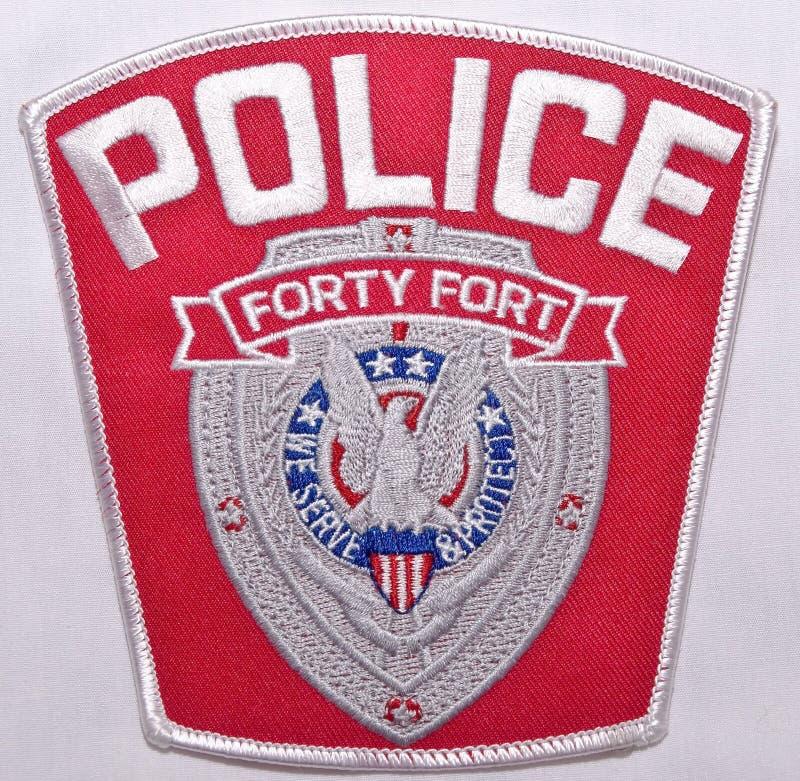 四十堡垒警察局的肩章在宾夕法尼亚 库存照片