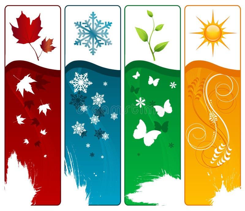 四季向量 库存例证