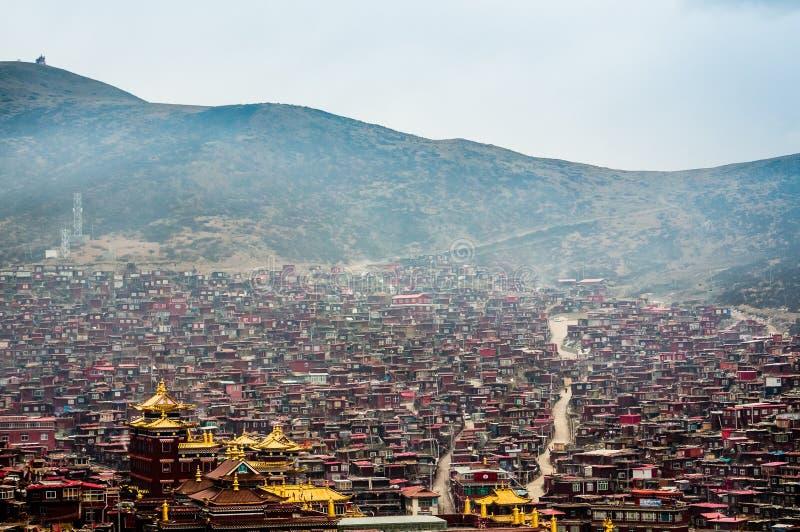 四川西藏人风景 免版税库存照片