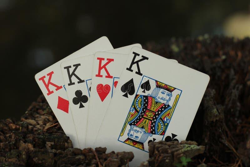 四张相同的牌国王 图库摄影