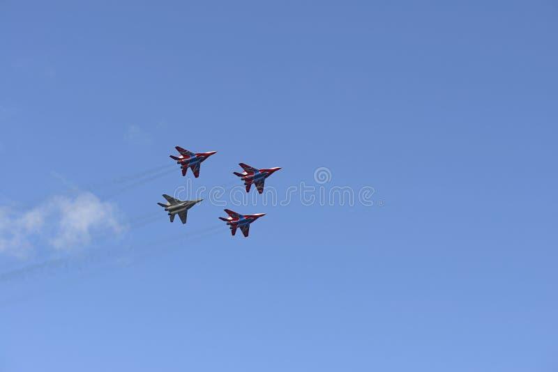 四战斗机米格-29 免版税图库摄影