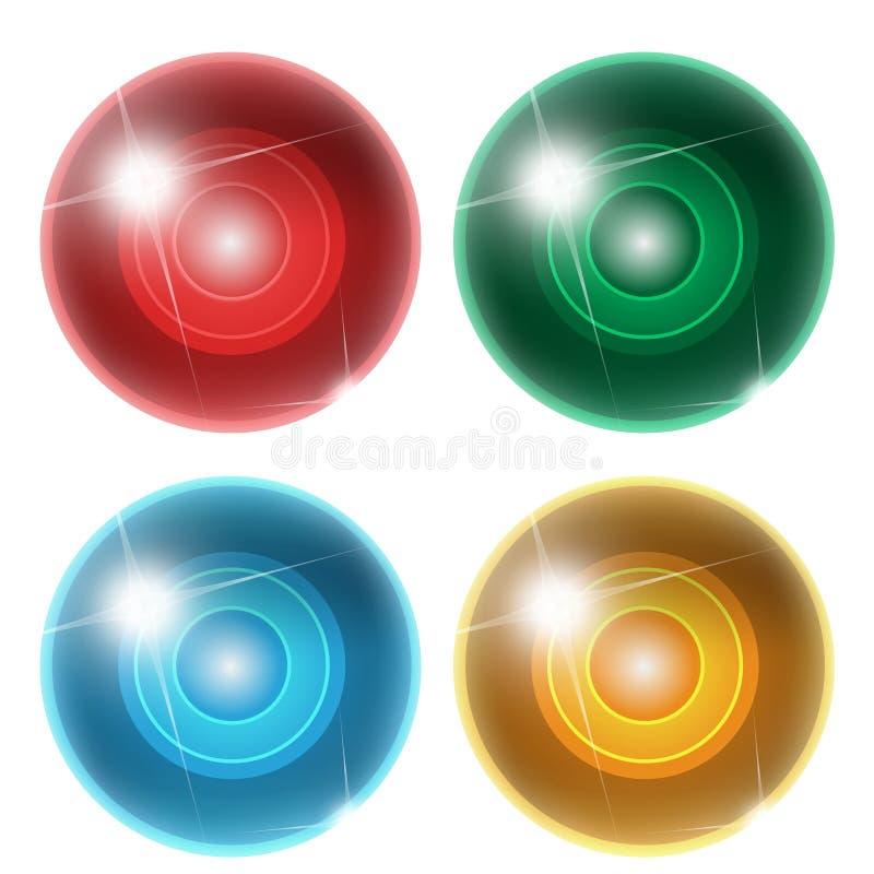 四抽象球 皇族释放例证