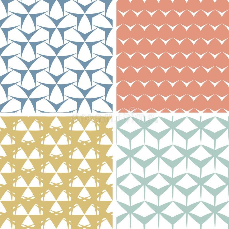 四抽象锋利几何桃红色无缝 库存照片