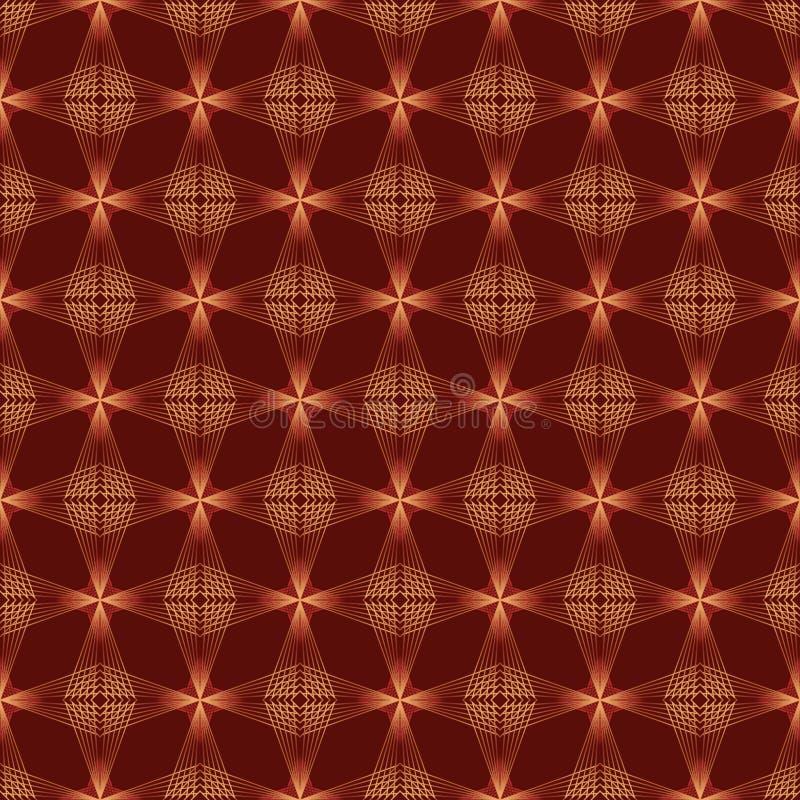 四旁边线红色明亮的无缝的样式 皇族释放例证