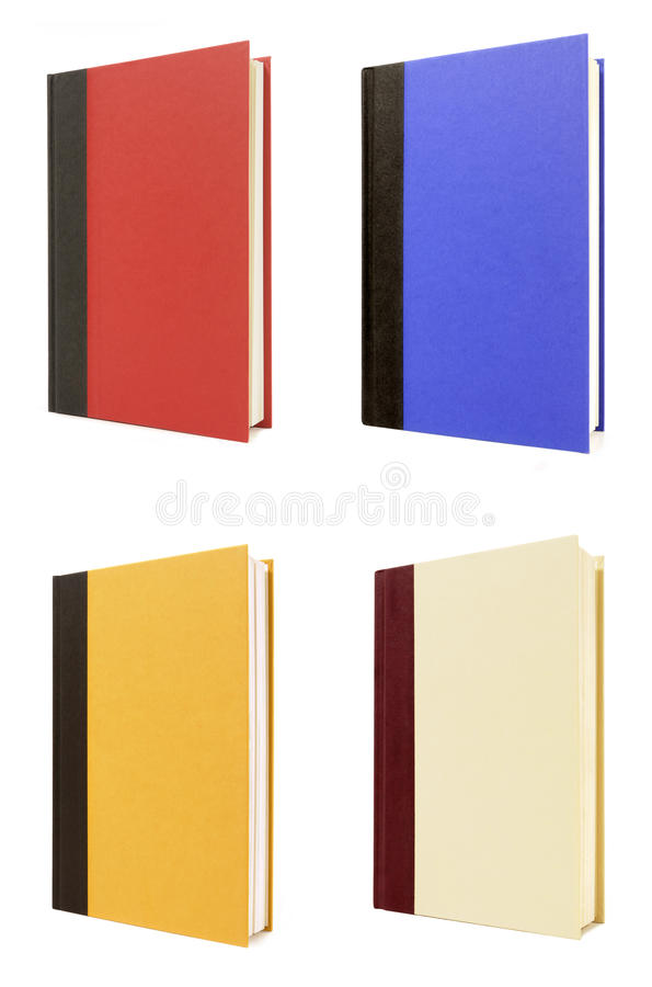 四本精装书书 免版税库存照片