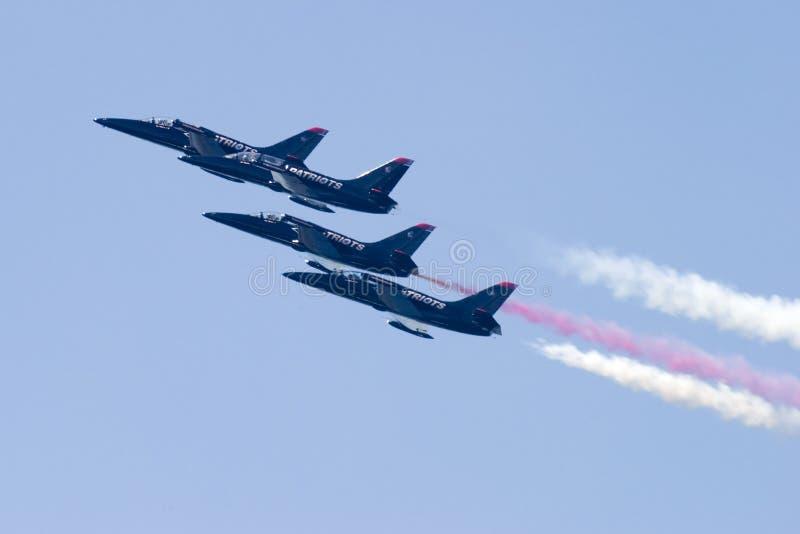 四架喷气机爱国者 图库摄影