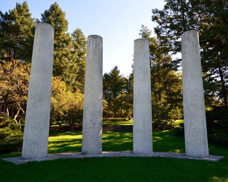 四根柱子 免版税库存照片