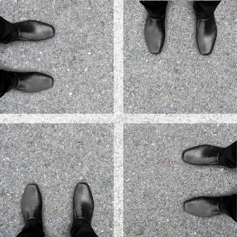 四步企业成功 免版税库存图片