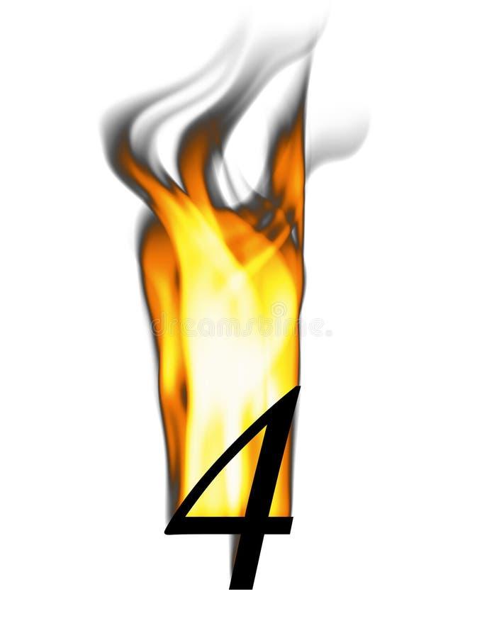 四火热编号 向量例证
