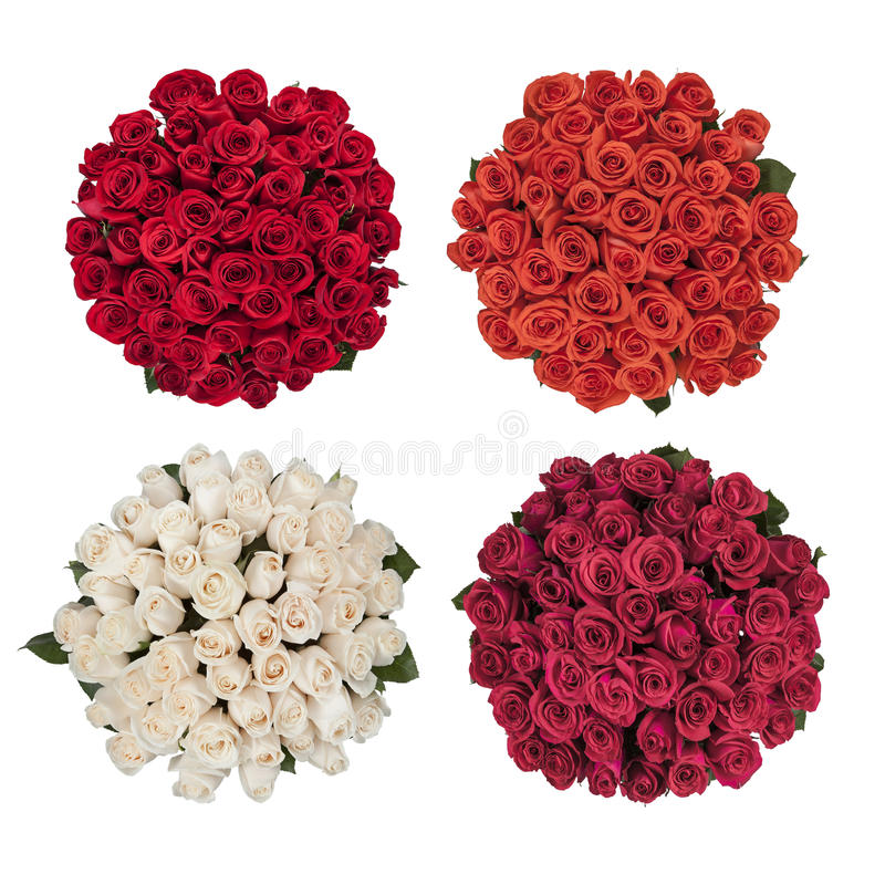 四玫瑰花束  库存照片