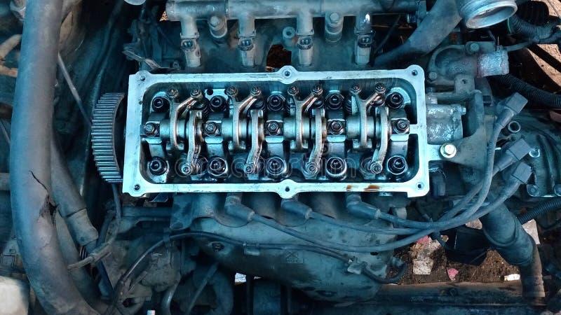四缸四次冲击引擎 免版税库存照片