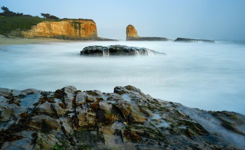 四英里海滩,加利福尼亚 图库摄影