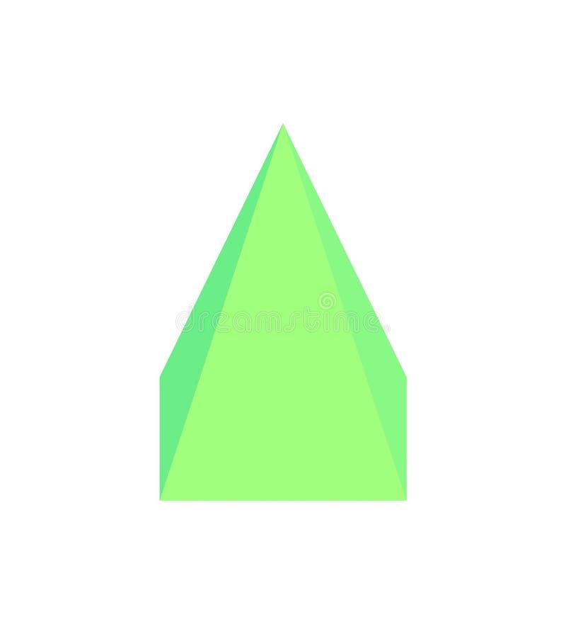 四角锥三维传染媒介例证 库存例证