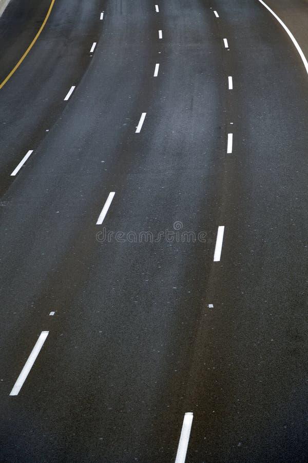 空的四车道的高速公路 免版税图库摄影
