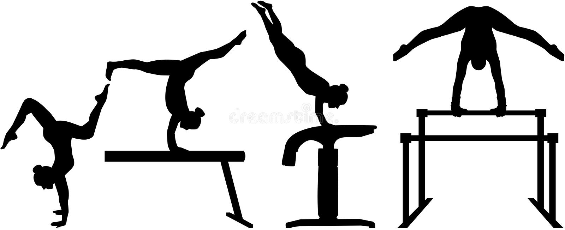 四部分竞争体操 皇族释放例证