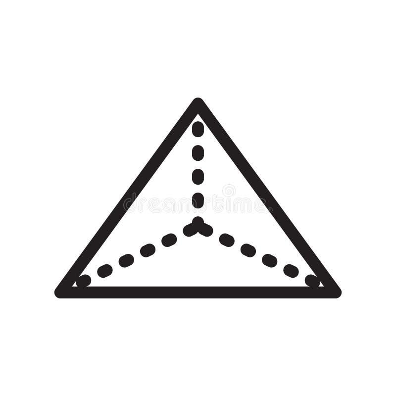 四面体象在白色backgr和标志隔绝的传染媒介标志 皇族释放例证