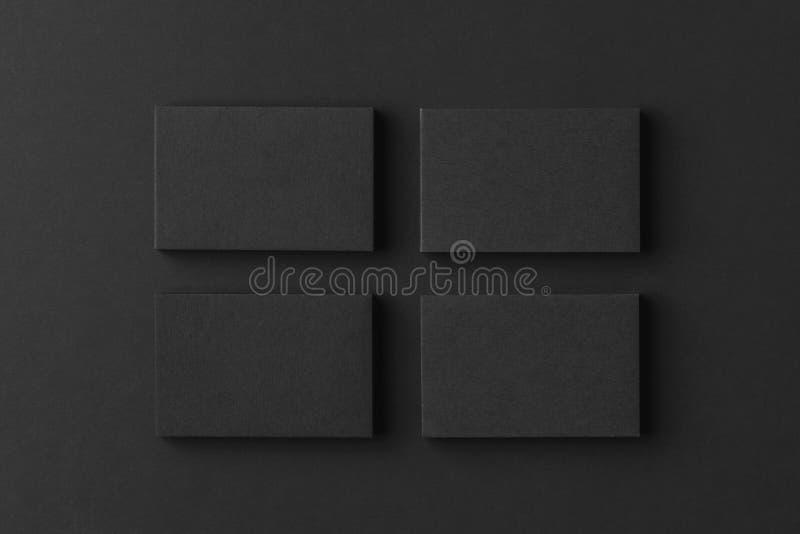 四黑名片堆大模型在行安排了 图库摄影