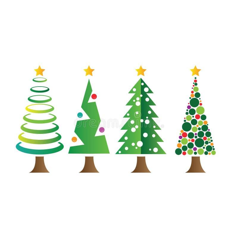 四christmass树 库存例证