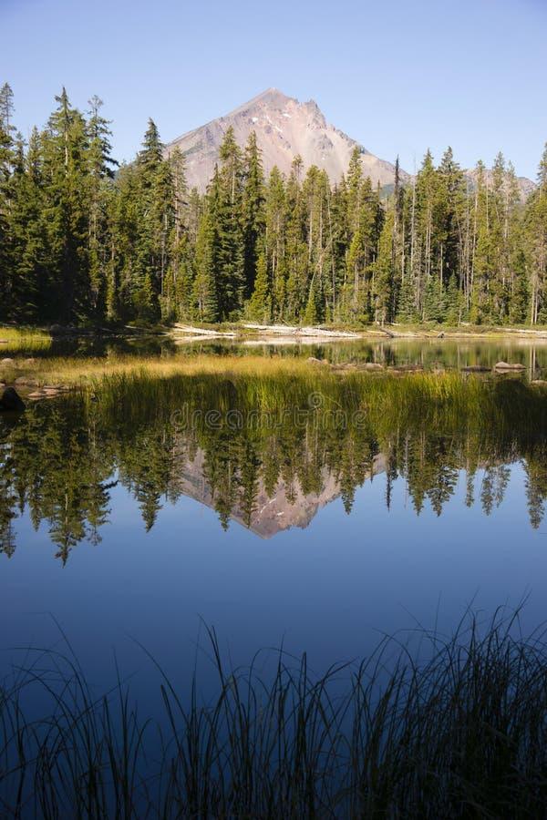 四Mile湖登上McLoughlin克拉马斯县俄勒冈小瀑布Mo 库存照片