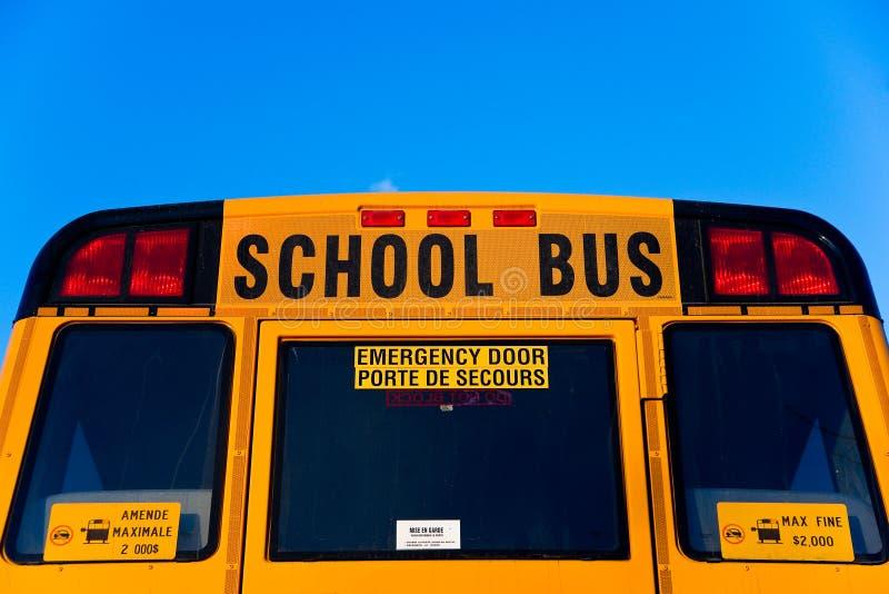 回到公共汽车半学校顶层 免版税库存图片