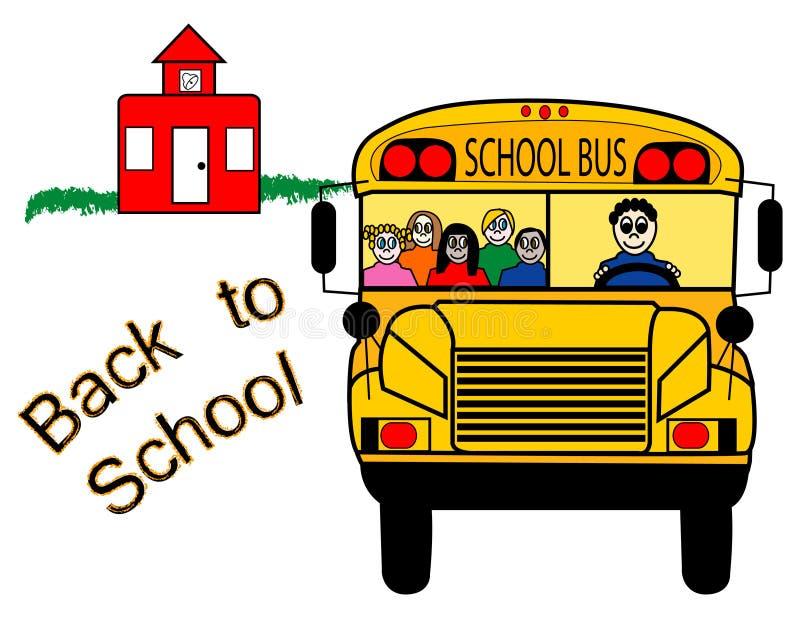 回到公共汽车学校 向量例证