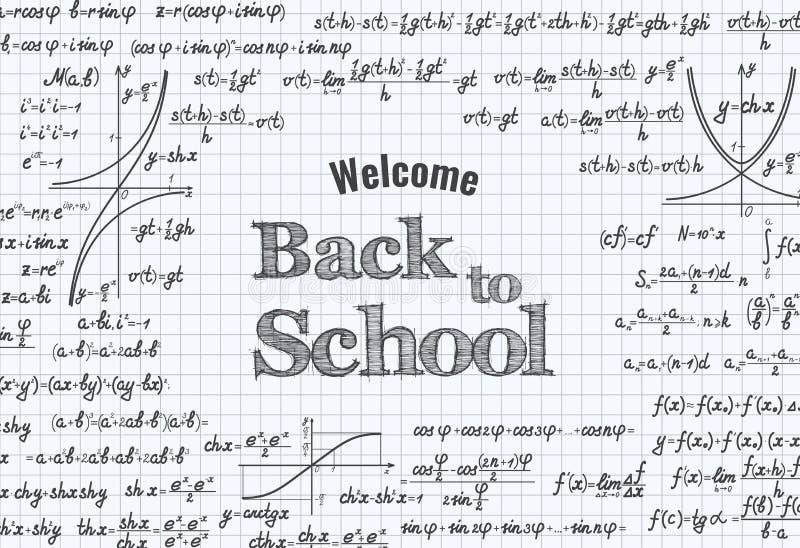 回到学校传染媒介教育背景 向量例证