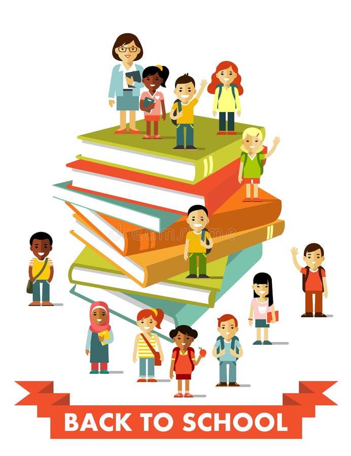 回到学校教育在平的样式的人概念 皇族释放例证