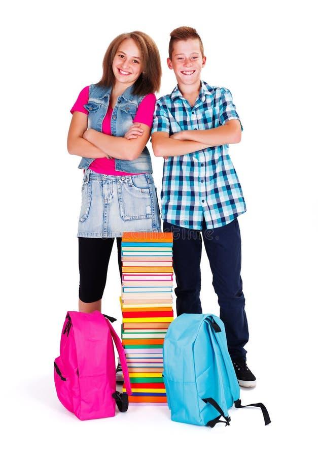 回到学校的孩子 免版税库存图片