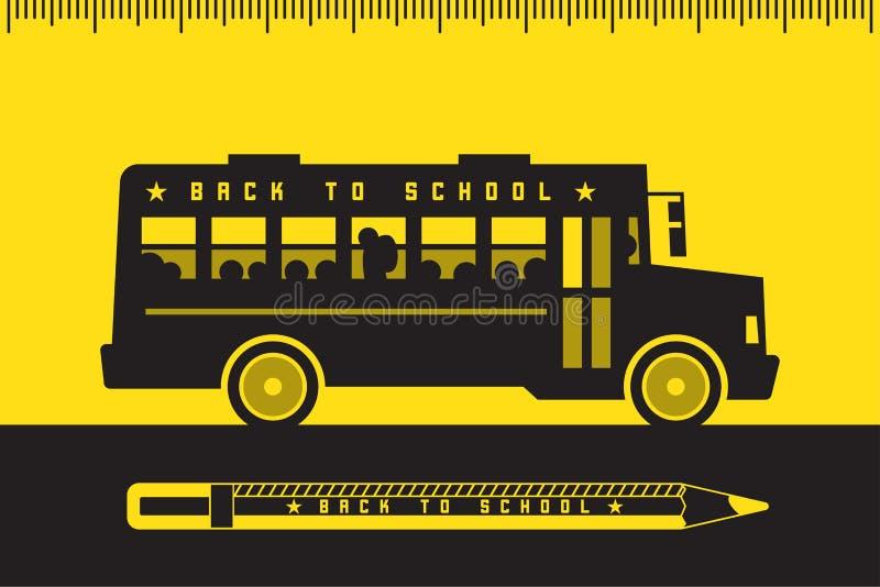 回到学校的校车 皇族释放例证