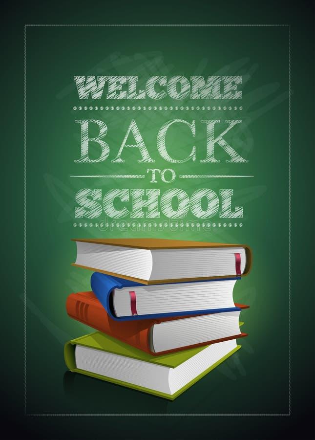 回到学校的欢迎 向量例证
