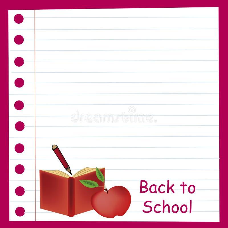 回到学校的红色 皇族释放例证