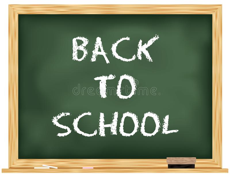 回到学校绿色黑板/黑色委员会 向量例证