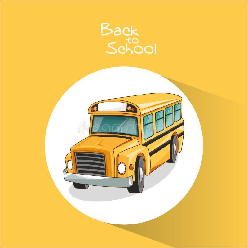 回到学校设计黄色公共汽车  皇族释放例证