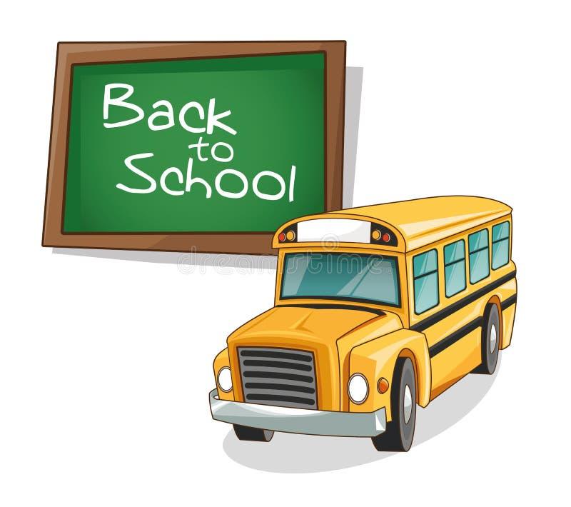回到学校设计黄色公共汽车  库存例证