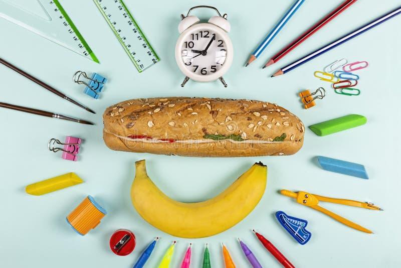 回到学校,健康,孩子,想法,高中,膳食计划,午餐想法,学院,剪贴美术,晚餐想法,膳食预习功课,食谱,菜单想法, 免版税库存图片