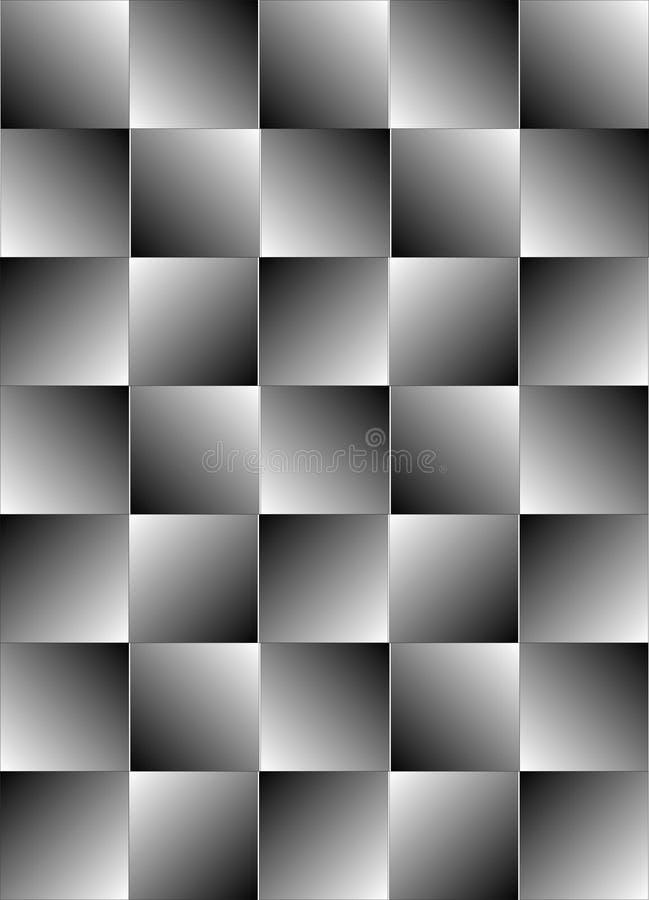 回到幻觉视觉白色 皇族释放例证
