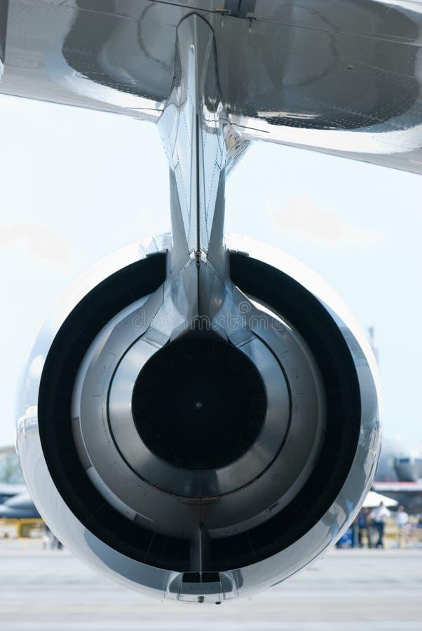 回到引擎喷气机视图 免版税库存照片