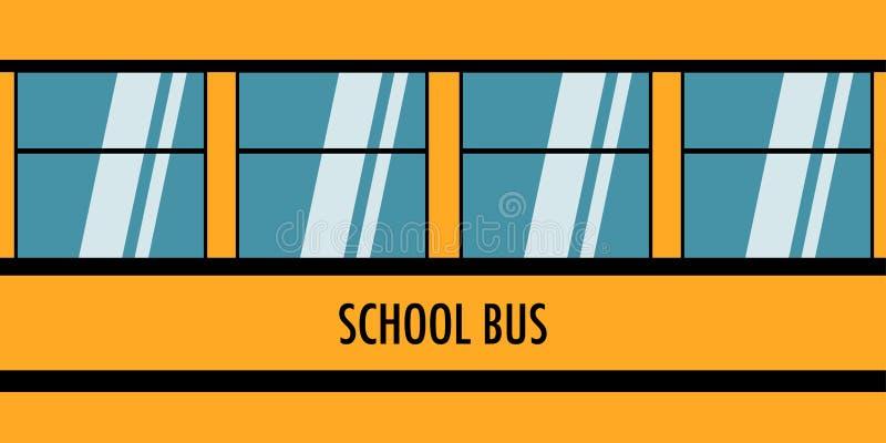 回到有黄色公共汽车传染媒介的学校 皇族释放例证