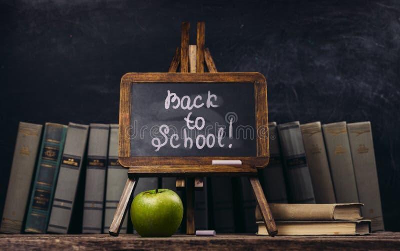 回到概念学校 免版税库存图片