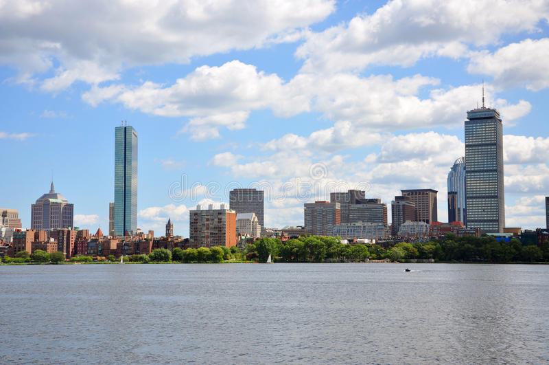 回到海湾波士顿地平线 库存图片