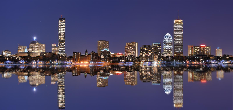 回到海湾波士顿地平线 免版税库存图片