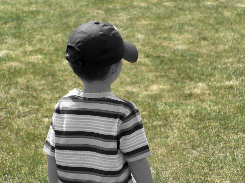回到男孩 免版税图库摄影