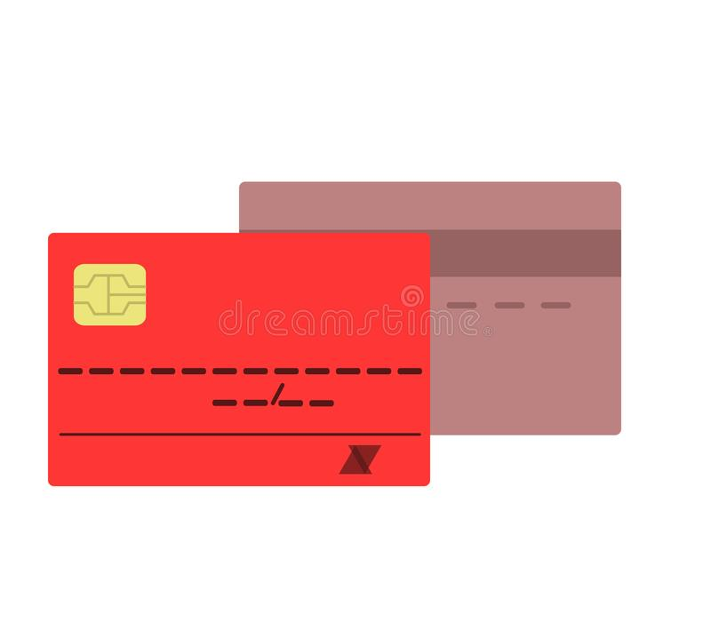 回到看板卡赊帐前面图标端 金钱财政项目和商务题材 isola 向量例证