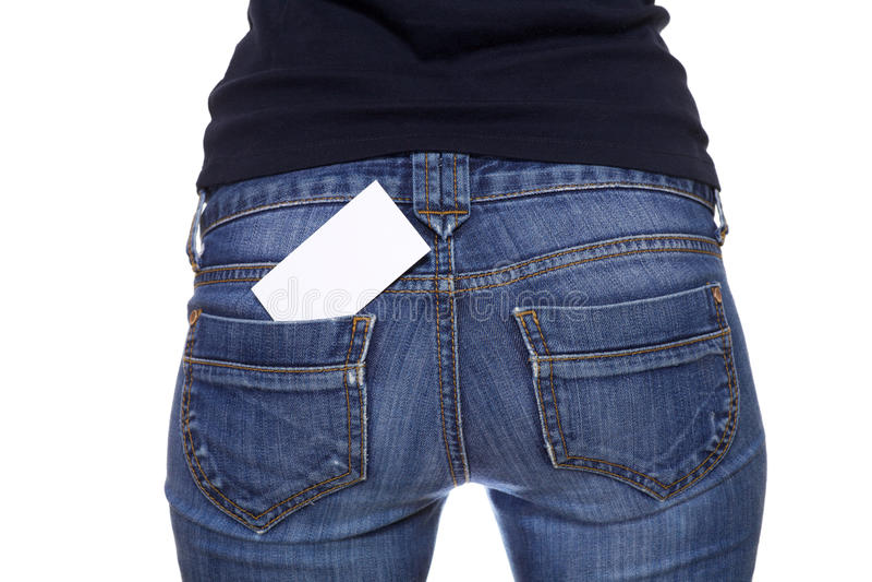 回到空插件牛仔裤矿穴 免版税库存照片