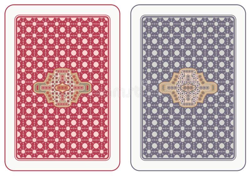 回到纸牌游戏 向量例证